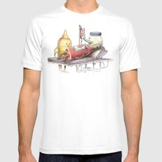 Emergency Transfusion  White Mens Fitted Tee MEDIUM