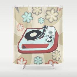 Retro Vinyl Shower Curtain