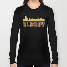 Vintage Style Albany New York Skyline Long Sleeve T-shirt