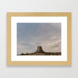 Devil's Tower National Monument 120mm Framed Art Print