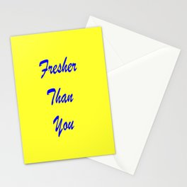 fresher THAN you Yellow & Blue Stationery Cards