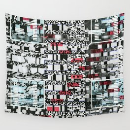 Part Wash (P/D3 Glitch Collage Studies) Wall Tapestry