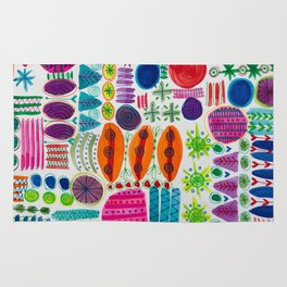 Happy Abstract Pattern Rug