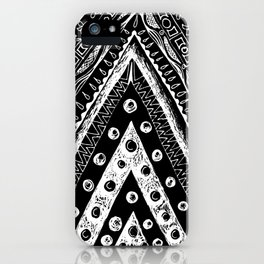 tribal triangle iPhone Case