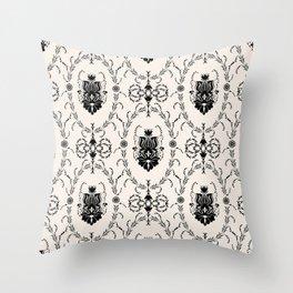 Seamless wallpaper background floral vintage Throw Pillow