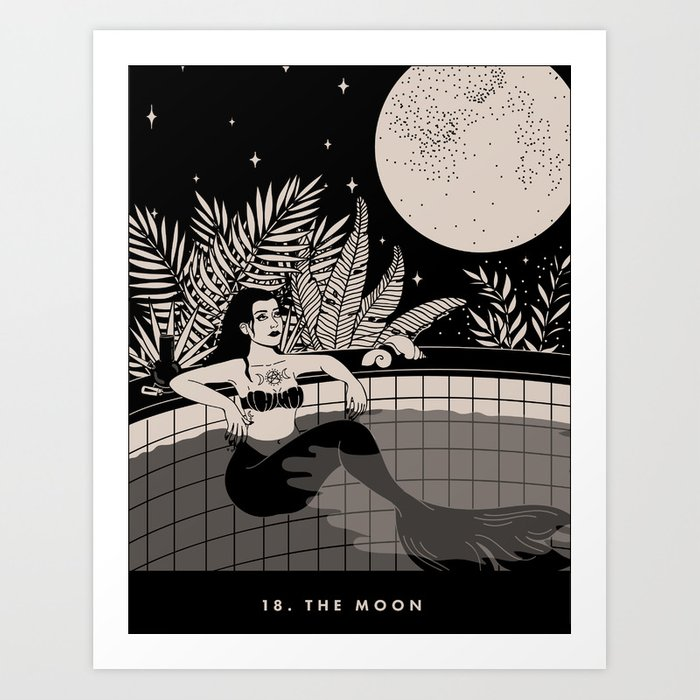 18. THE MOON Kunstdrucke