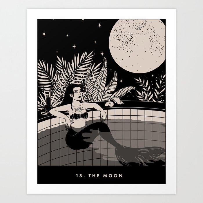 18. THE MOON Art Print