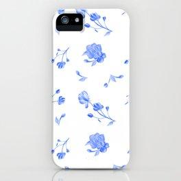 Charleston Floral Sky Blue iPhone Case