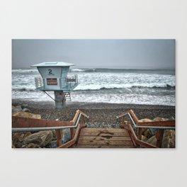 Lifeguard Tower 2, Torrey Pines, La Jolla, California Canvas Print