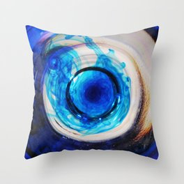 Abstract Wave Throw Pillow