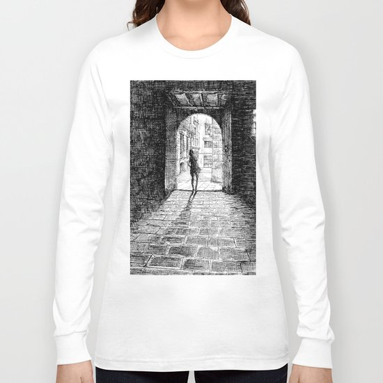 Light - Black ink Long Sleeve T-shirt
