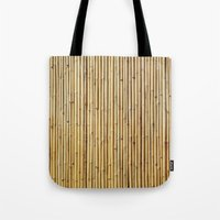 bamboo Tote Bags featuring Bamboo by Patterns and Textures