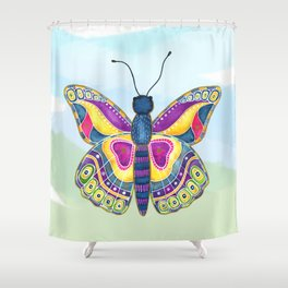 Butterfly III on a Summer Day Shower Curtain