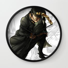 Jotaro Kujo Artwork Wall Clock