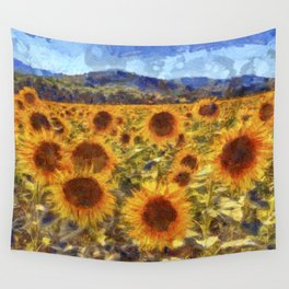 Sunflowers Vincent van Gogh Wall Tapestry
