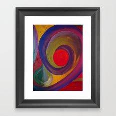 Swirlie Framed Art Print