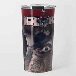 raccoon rock Travel Mug