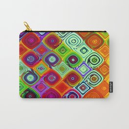 Mosaic Digital Abstract Beautiful Nature Art Carry-All Pouch