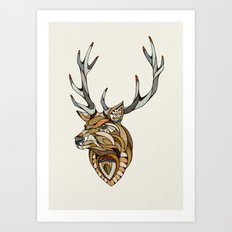 Deer // Animal Poker Art Print