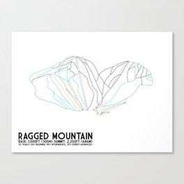 Ragged Mountain, NH - Minimalist Winter Trail Art Canvas Print