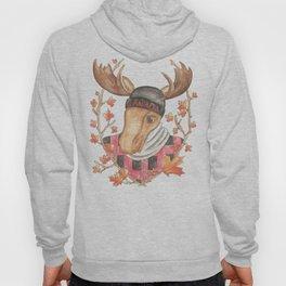 Hipster Moose Hoody