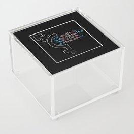 HRT Myself Today Alt 2 Acrylic Box