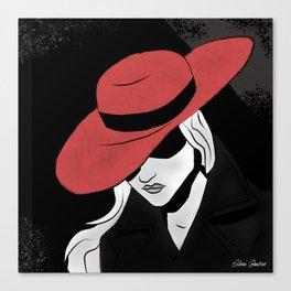 Woman Noir Canvas Print