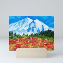 Mt. Rainier Meadows Mini Art Print