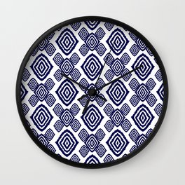 Indigo Diamonds Wall Clock