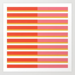 Blush Bright Stripe Art Print