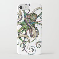 artists iPhone & iPod Cases featuring Octopsychedelia by TAOJB