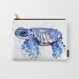 Baby Blue Turtle Carry-All Pouch