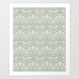 William Morris Pastel Strawberry Thief Pattern Art Print