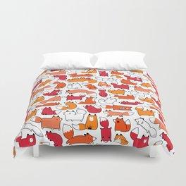 Foxy Foxes Doodle Duvet Cover