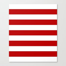 UE red - solid color - white stripes pattern Canvas Print
