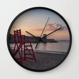 Front Beach After Hours Wall Clock