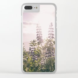 Lupine Clear iPhone Case