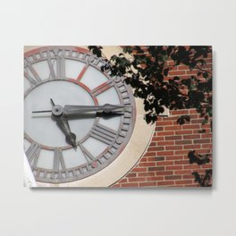 Keeping Time at University Hall Metal Print