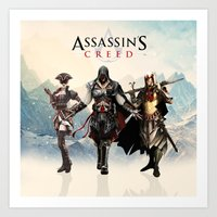 assassins creed Art Prints featuring Assassins Creed Attack by bivisual