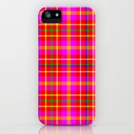 Watermelon Madras Plaid Print iPhone Case
