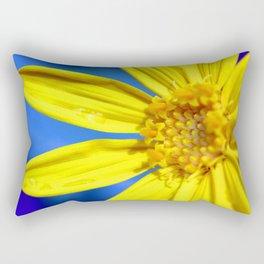 Sunflower against a Bright Blue Sky Rectangular Pillow