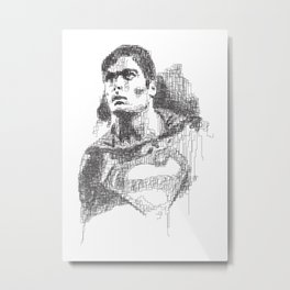 Christopher Reeve Portrait Metal Print