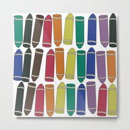 Crayon Box Metal Print