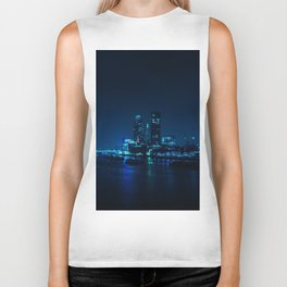 The Blue City Night (Color) Biker Tank
