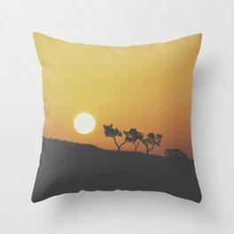 Sunrise Silohuette Throw Pillow