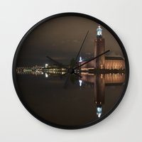stockholm Wall Clocks featuring Stockholm by BearClauseDesigns
