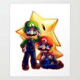 Mario Bros. Art Print