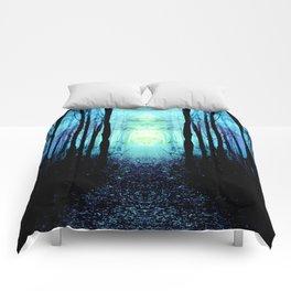 Mystic Blue Sun : Path to Imagination Comforters