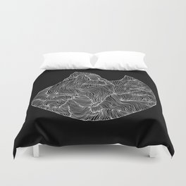Inverted Crevice Duvet Cover