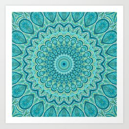 Turquoise Treat - Mandala Art Art Print